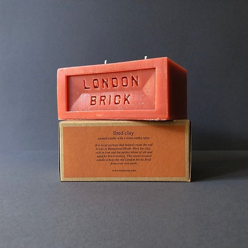 London Brick Fired Clay Candle