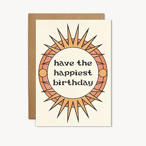 'Have the Happiest Bday' Card