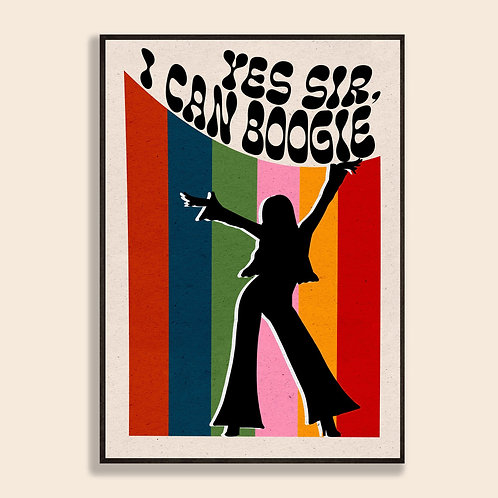 'I Can Boogie' Print