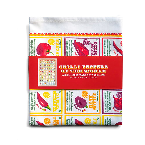 Chilli Peppers of the World Tea Towel