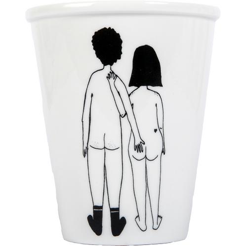 Naked Couple Back Porcelain Cup