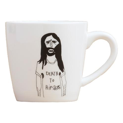 'Death to Hipsters' Porcelain Mug