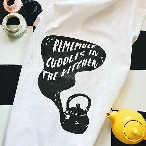 'Cuddles in the Kitchen' Tea Towel