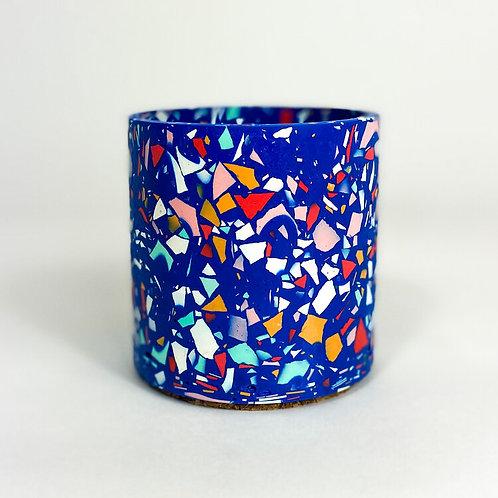 Terrazzo Pot - Royal Blue