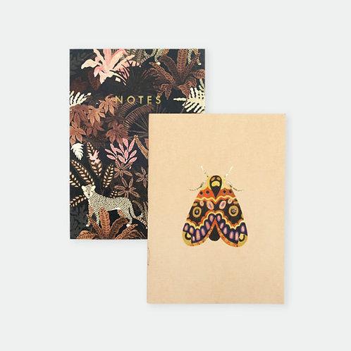 Butterfly & Monkey Pocket Notebook Duo