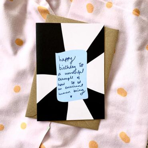 Happy Bday to a Wonderful Example Card
