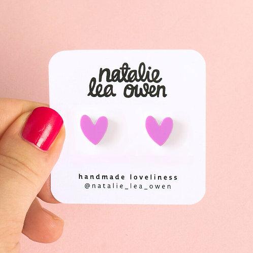 Heart Earrings - Bubblegum Pink