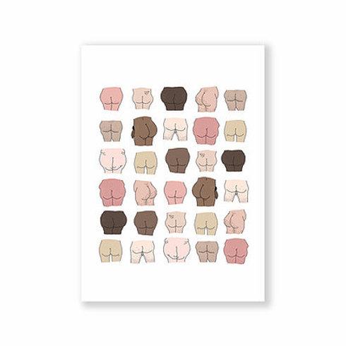 Cute Butts Postcard