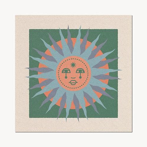 'Sun Face' Print