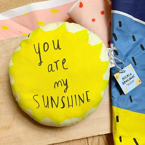 'You are my sunshine' cushion