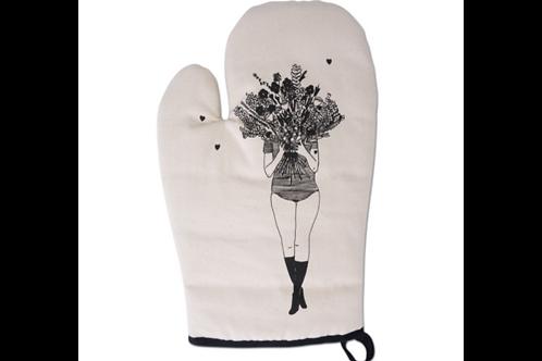 Flower Girl Oven Glove