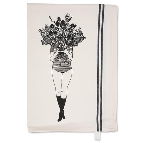 Flower Girl Tea Towel