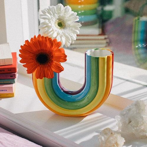 Rainbow U-Shaped Vase