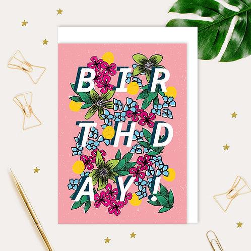 Birthday Botanical Card