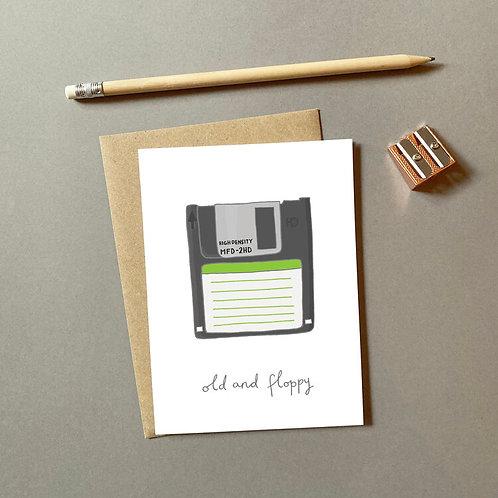 Old & Floppy Card
