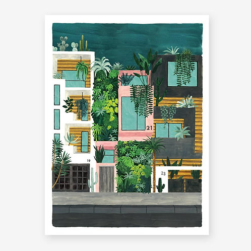 Botanical Buildings Print