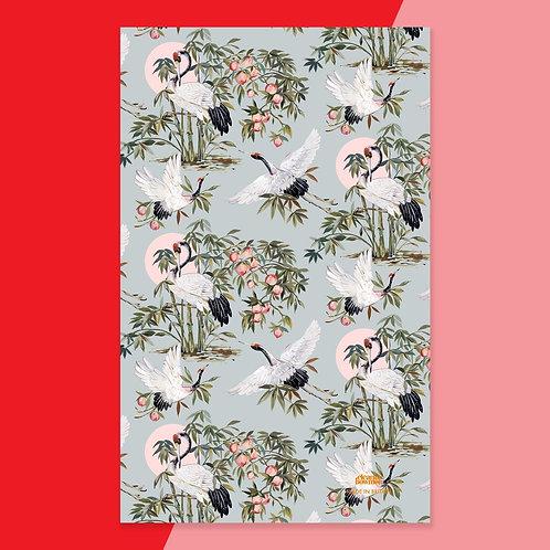 Elegant Cranes Tea Towel