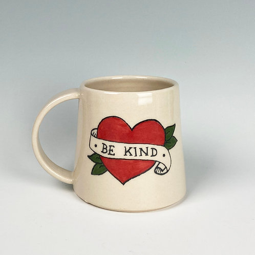 'Be Kind' Tattoo Style Big Mug
