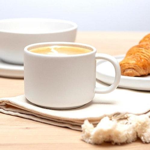 White Flat White Mug