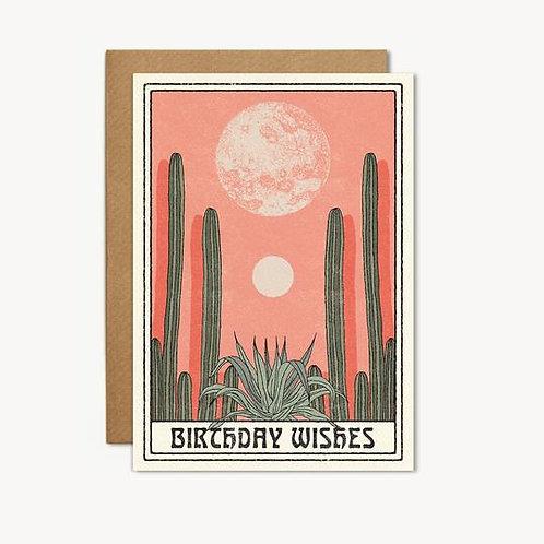 'Birthday Wishes' Cactus Card