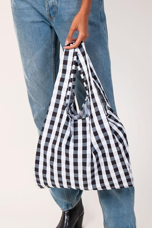 Gingham 100% Recycled Reusable Bag