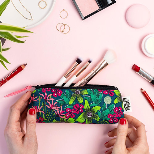 Forest Floral Small Makeup Bag