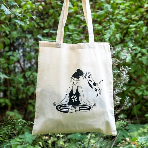 'Zen with Cats' Tote Bag