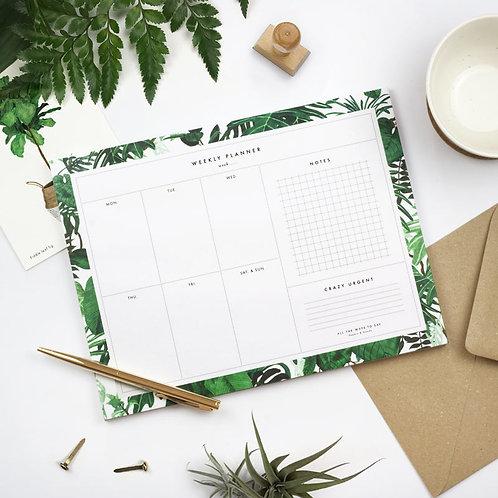 Jungle Weekly Planner Pad