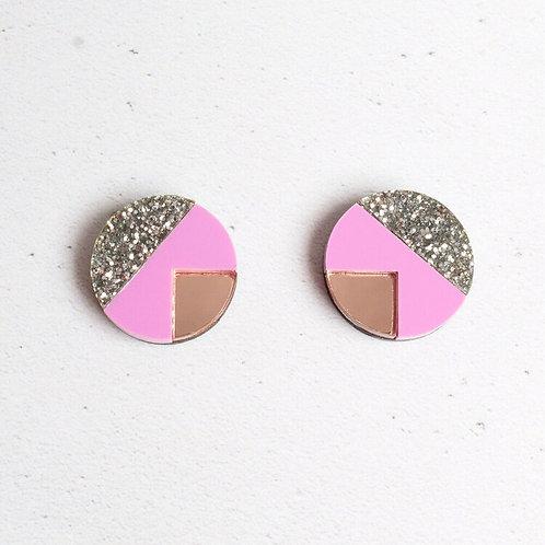Matilda Stud Earrings Purple