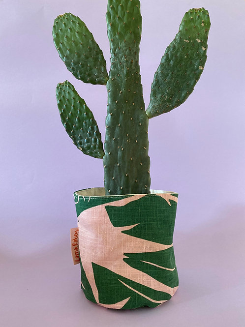 Pink & Green Plant Pot Cover