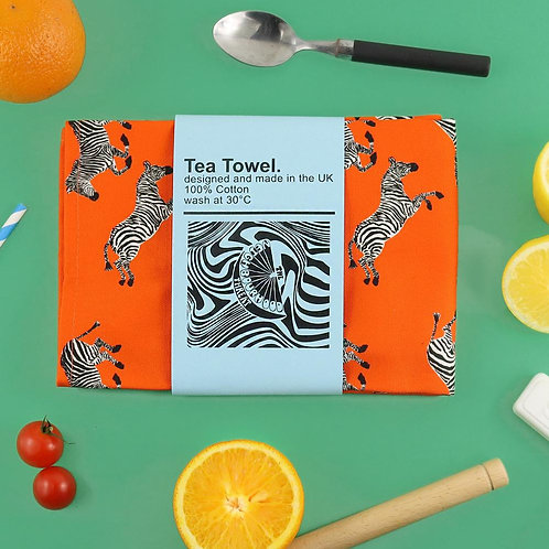 Funky Zebra Tea Towel