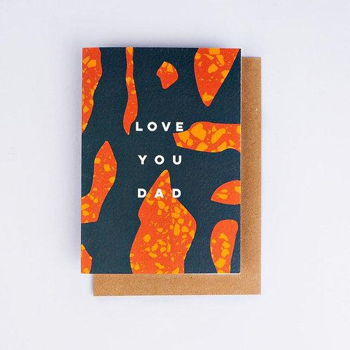 'Love You Dad' Terrazzo Card
