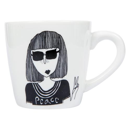 'Peace' Porcelain Mug