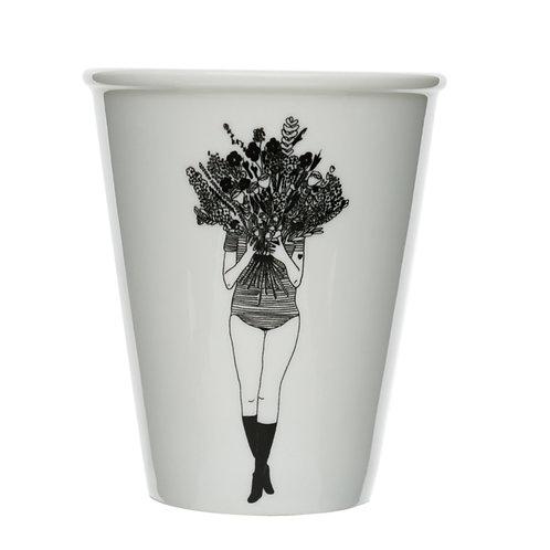 Flower Girl Porcelain Cup