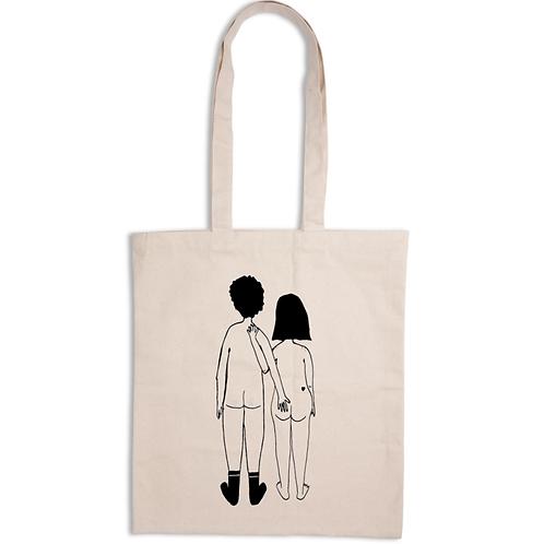 'Naked Couple' Tote Bag