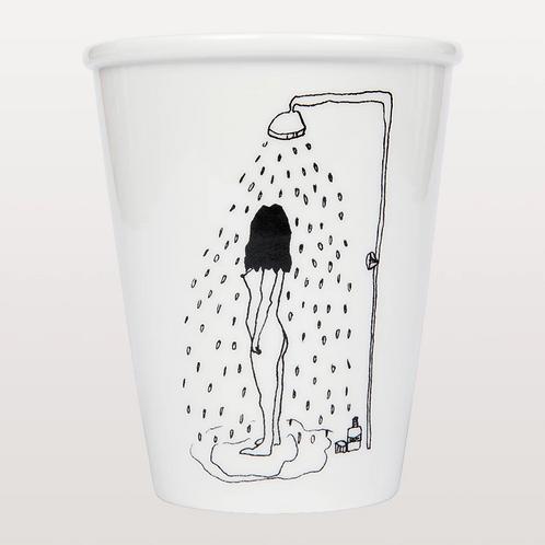 Shower Girl Porcelain Cup