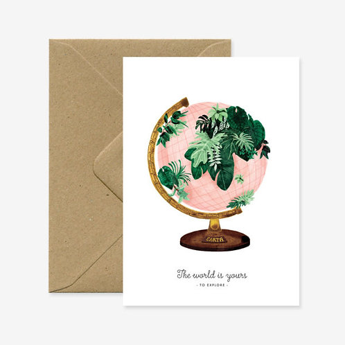 'World is Yours' Card