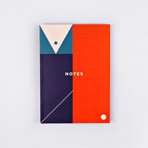 Block Shapes A5 Flat Lay Notebook