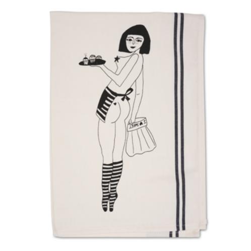 Pin-Up Cake Girl Tea Towel