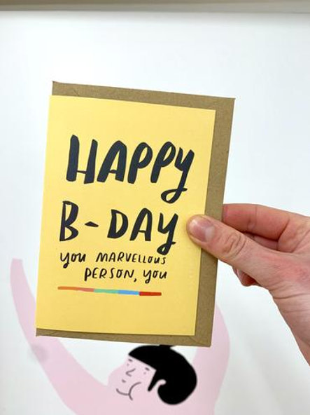 Happy Bday Marvellous Person Card