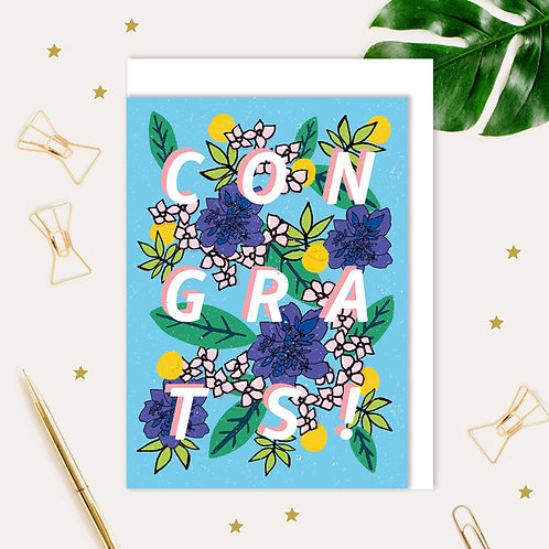 Congrats Floral Card