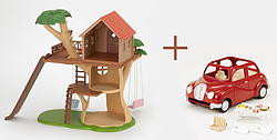 "Sylvanian Families. Play set ""House-tree and car"" (action)"