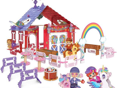 Get ready to build, decorate and play with the Pinxies Unicorn Barn set from Luki Lab. With over 240