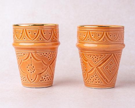 2 כוסות בלדי טרקוטה