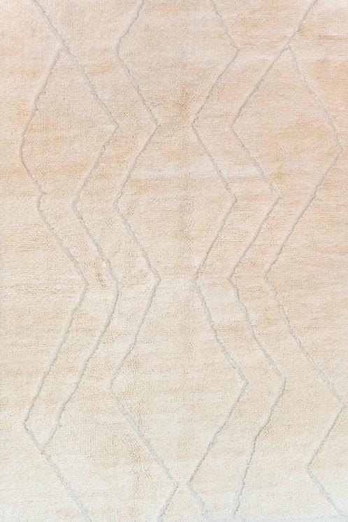 שטיח מרוקאי אותנטי בני אוריין קרם