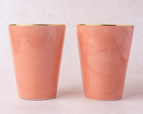 2 כוסות אלגנט רוז
