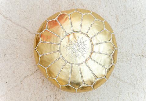 פוף מרוקאי זהב