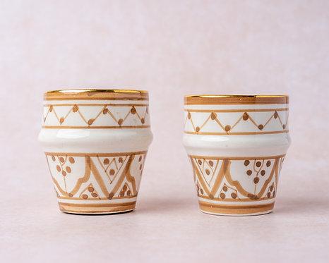 2 כוסות  אספרסו חול