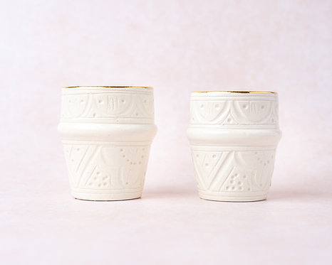 2 כוסות  אספרסו קזבלנקה