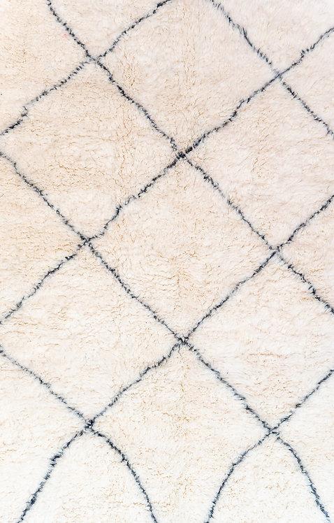 שטיח מרוקאי אותנטי מעוינים אפור